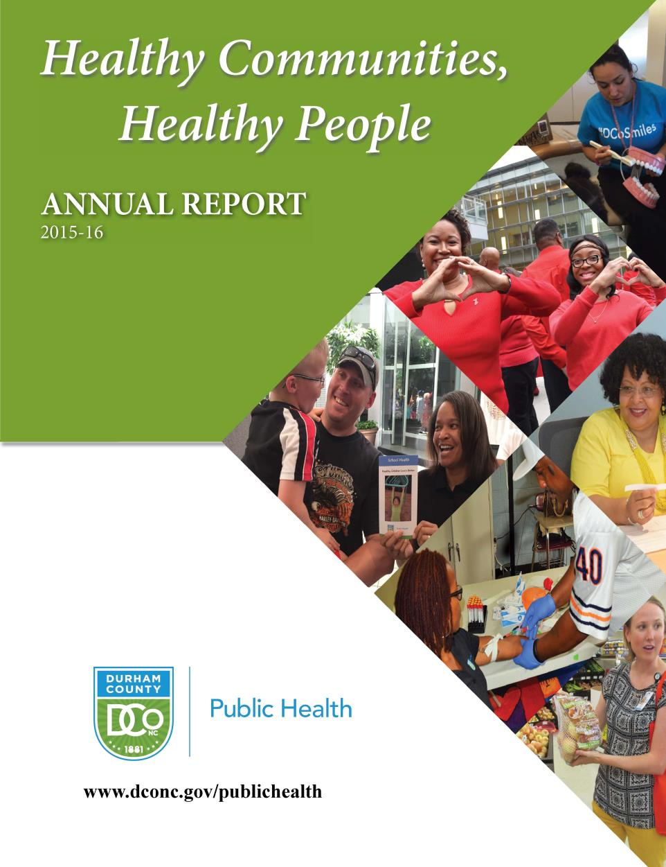 DCoDPH Annual Report FY 2016 Cover
