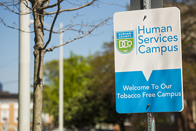 HSC Tobacco Free sign
