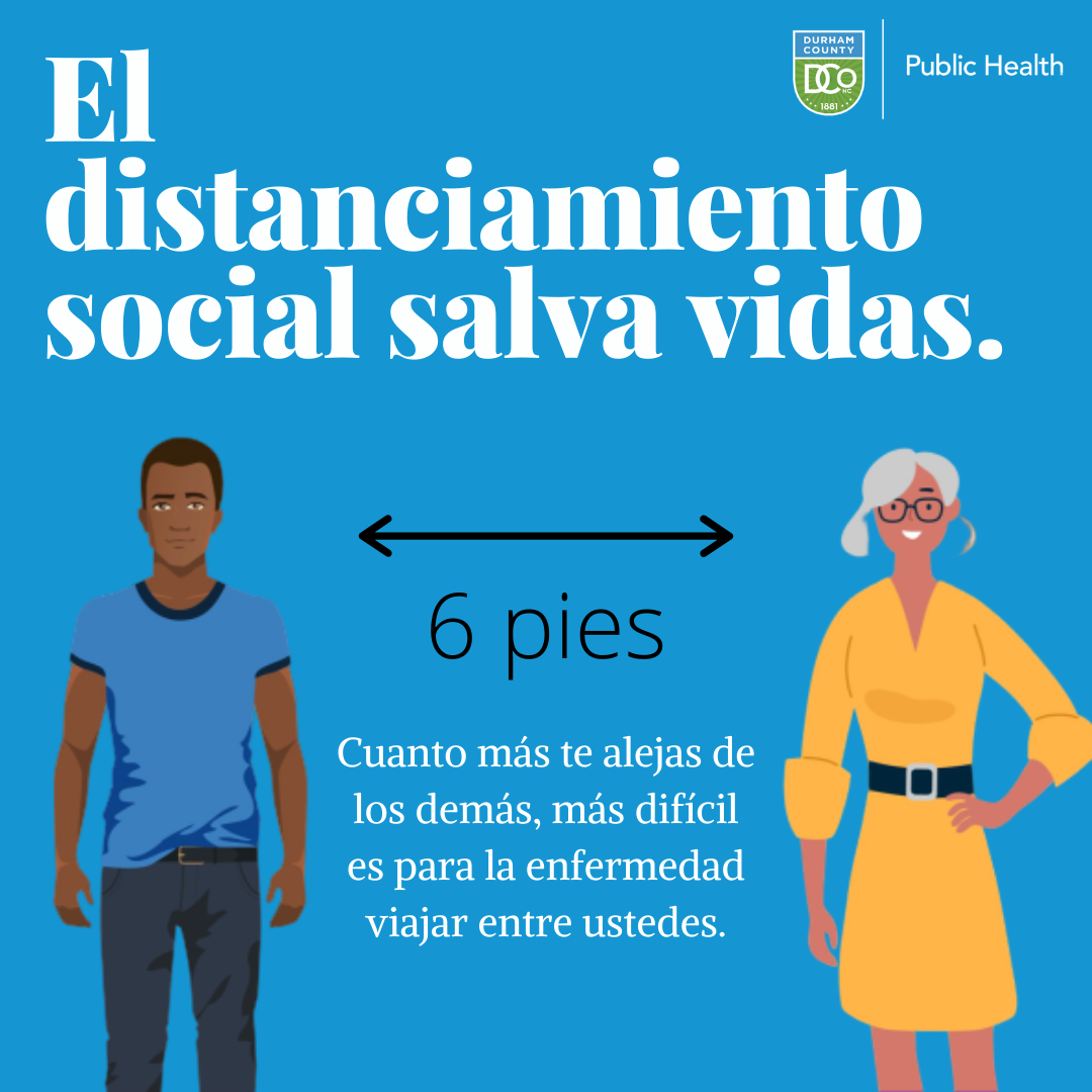 social distancing saves lives spanish